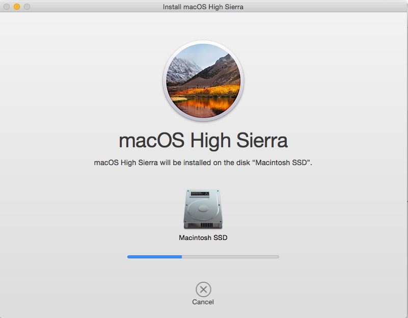 macOS High Sierra installer window